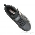 Skechers Nitrate Microblast Boys Black School Shoe