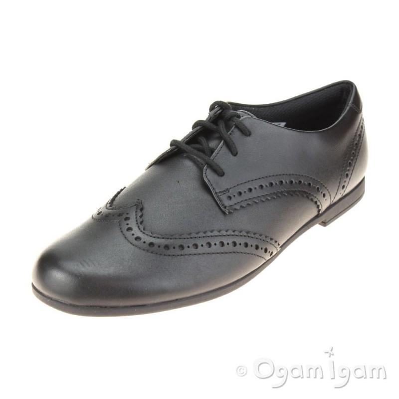 9103ca21dcb Clarks Scala Lace Girls Black School Shoe | Ogam Igam