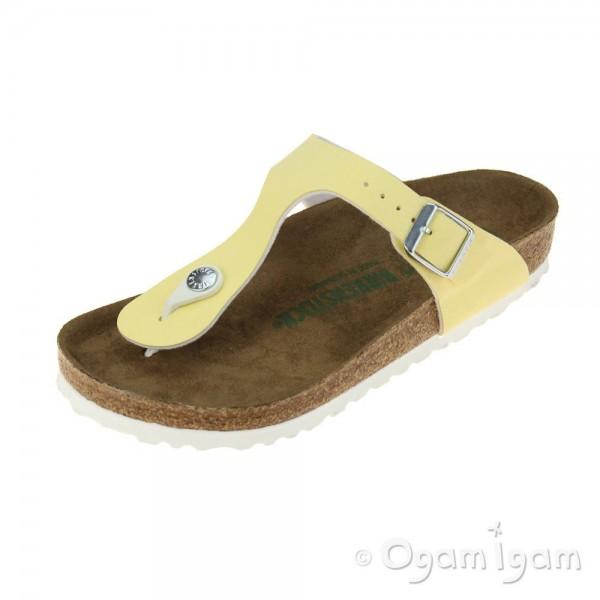 Birkenstock Gizeh Vanilla Vegan Womens Brushed Vanilla Sandal