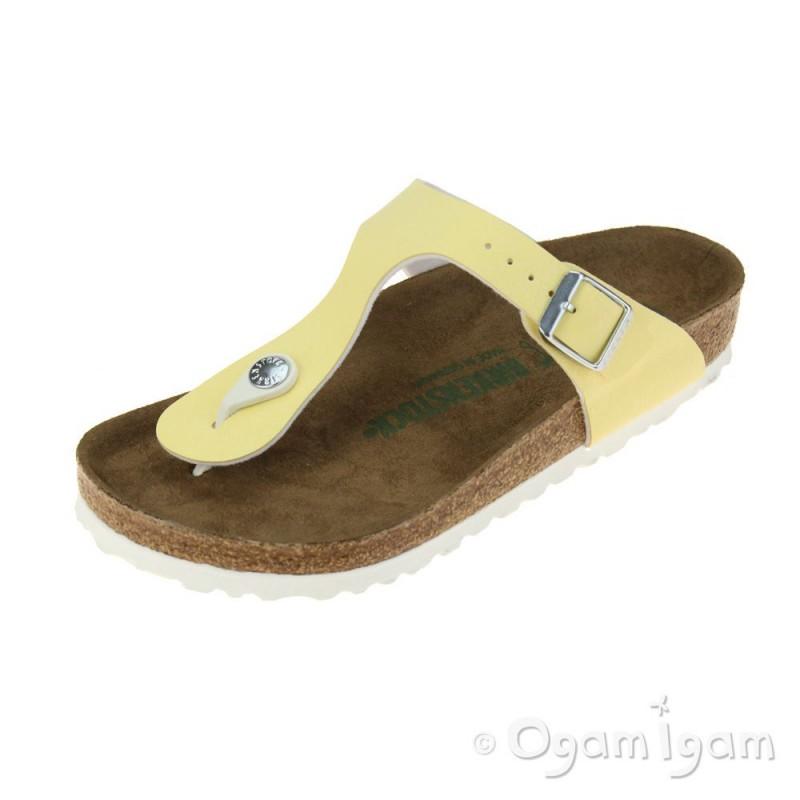 0b4aece7b Birkenstock Gizeh Vanilla Vegan Womens Brushed Vanilla Sandal | Ogam Igam