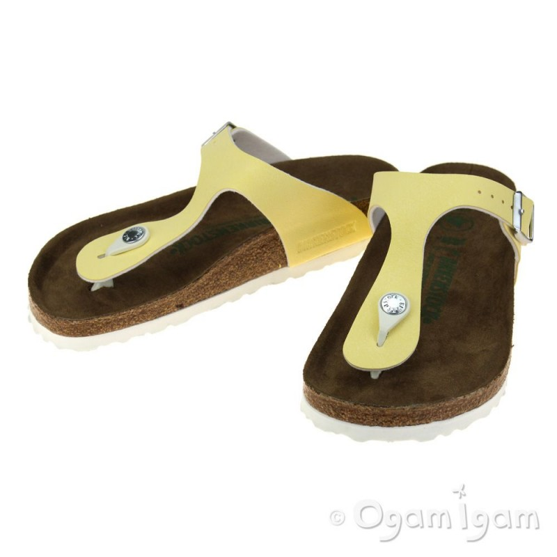 524bf4f4d Birkenstock Gizeh Vanilla Vegan Womens Brushed Vanilla Sandal | Ogam ...
