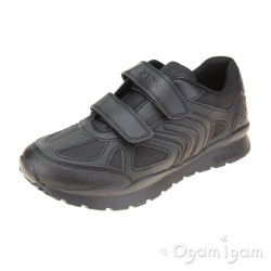 Geox Pavel Boys Black School Shoe