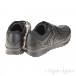 Geox Pavel Boys Black School Shoe