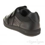 Geox Arzach Boys Black School Shoe