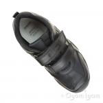 Geox Wader Boys Black School Shoe