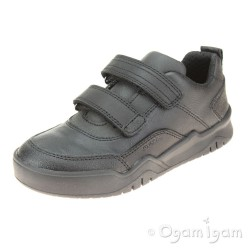 Geox Perth Boys Black School Shoe