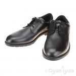 Clarks Scala Loop Boys Black School Shoe