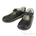 Bobux Delight Girls Black School Shoe