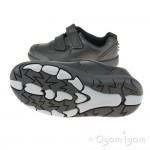 Clarks Rex Pace Senior Boys Black School Shoe