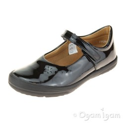 Froddo G31400531 Girls Black Patent School Shoe