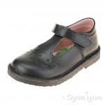 Petasil Clara Girls Black School Shoe