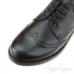 Petasil Moses Boys Black School Shoe