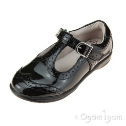 Lelli Kelly Jennette Girls Black Patent School Shoe