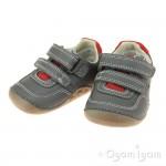 Clarks Tiny Dusk Infant Boys Grey Shoe