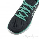 Skechers Graceful Get Connected Womens Charcoal-Green Trainer