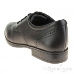 Clarks Sami Walk Girls Black School Shoe