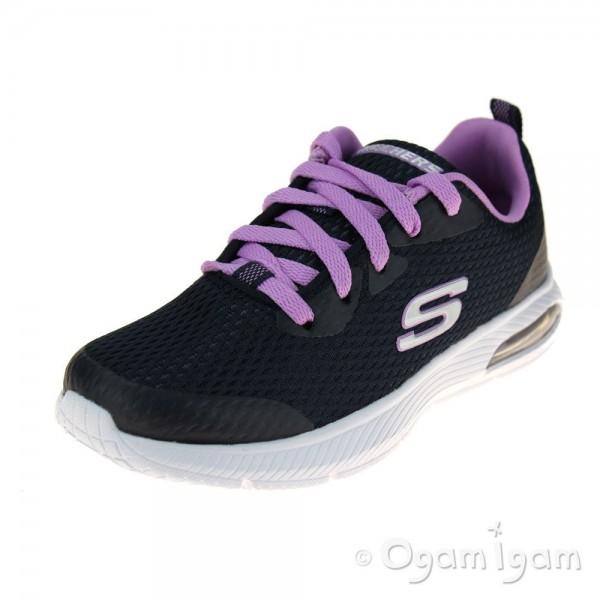 Skechers Dyna Air Jump Brights Girls Navy-Lavender Trainer