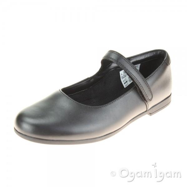 Clarks Scala Pure Girls Black School Shoe