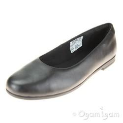 Clarks Scala Glide Girls Black School Shoe
