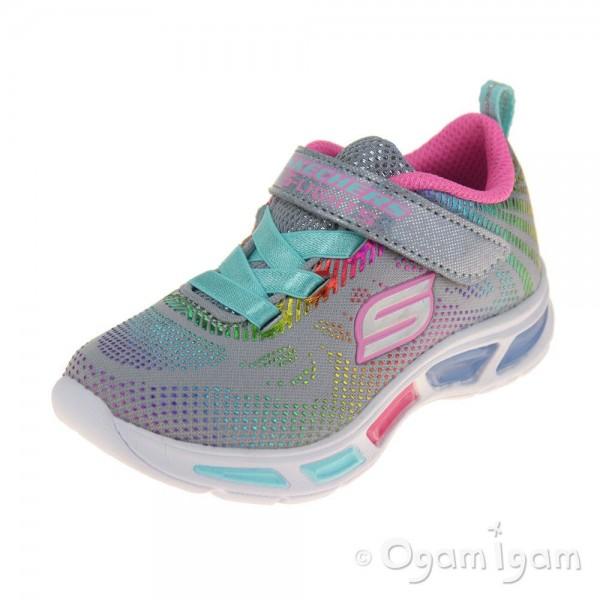 Skechers Litebeams Gleam N Dream Girls Grey-Multicolour Trainer