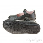 Petasil Donna Girls Black School Shoe