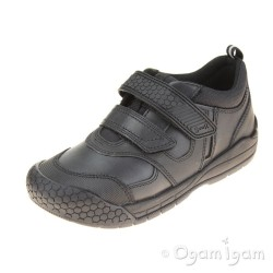 Start-rite Strike Boys Black School Shoe