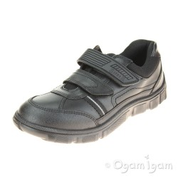 Start-rite Luke Boys Black School Shoe