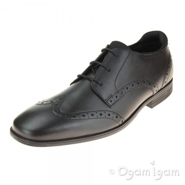Start-rite Tailor Boys Black School Shoe