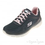 Skechers Flex Advantage 3 Womens Charcoal-Pink Trainer