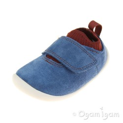 Clarks Roamer Seek Infant Boys Blue Combi Shoe