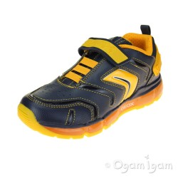 Geox Android Boys Navy-Dark Yellow Trainer