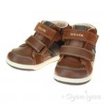 Geox Flick Boys Brown-Navy Boot