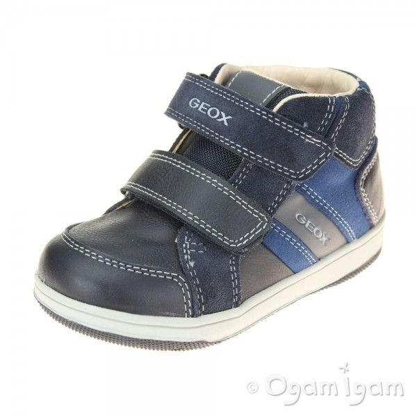 Geox Flick Boys Navy-Dark Royal Blue Boot