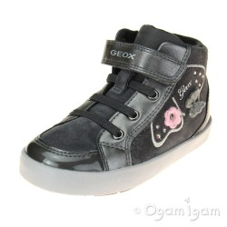 Geox Kilwi Girls Dark Grey Boot