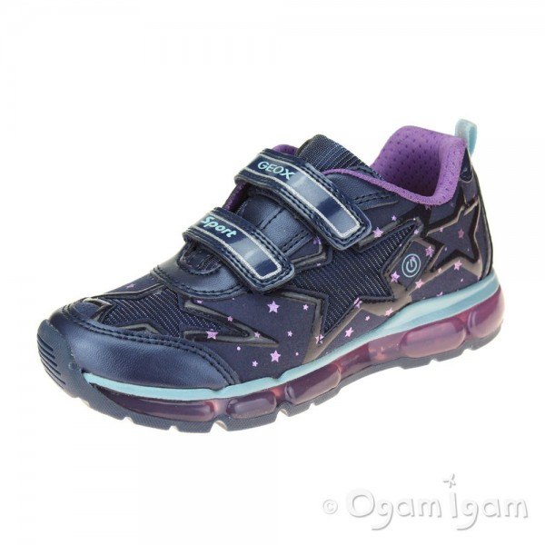 Geox Android Girls Navy-Purple Trainer