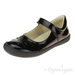 Primigi 44321 Girls Black Patent School Shoe