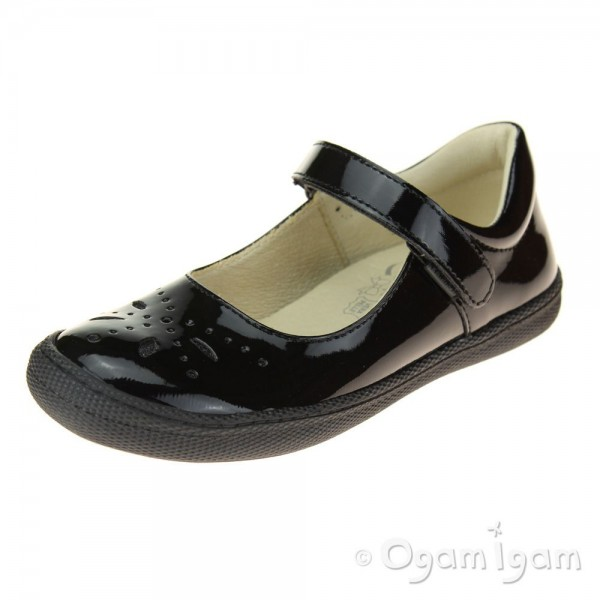 Primigi 44321 Girls Black Patent School Shoe