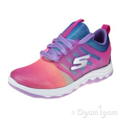 Skechers Diamond Runner Girls Neon Pink-Multi Trainer
