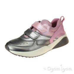 Geox Sinead Girls Pink-Dark Silver Shoe