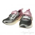 Geox Sinead Girls Pink-Dark Silver Shoe
