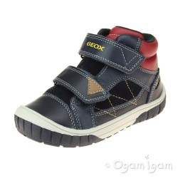 Geox Omar Boys Dark Navy-Red Shoe