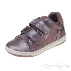 Geox Flick Girls Light Prune Shoe