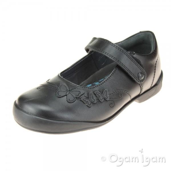 Start-rite Pump Girls Black School Shoe
