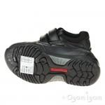 Hush Puppies Jezza Boys Black School Shoe