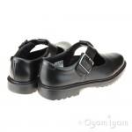 Clarks Asher Verve Girls Black T-Bar School Shoe