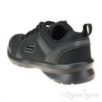 Skechers Skech-Stepz Speed Dial Boys Black School Shoe-Trainer