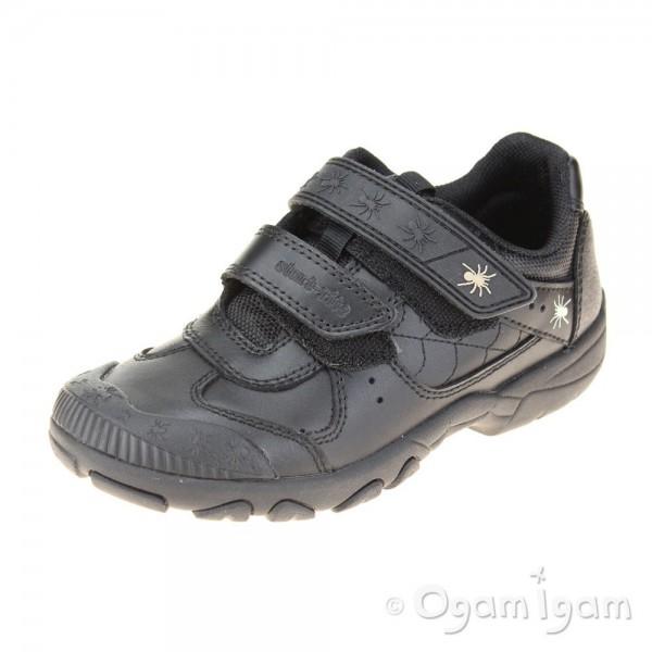 Start-rite Tarantula Boys Black School Shoe