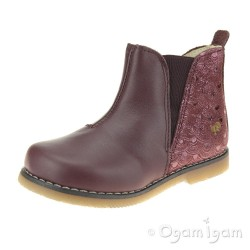 Primigi 44162 Girls Bordeaux Red Boot