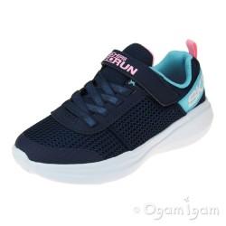 Skechers GoRunFast Viva Valor Girls Navy-Aqua Trainer