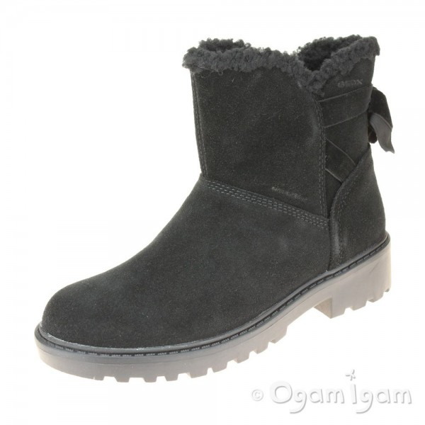Geox Casey Girls Black Warm-lined Ankle Boot